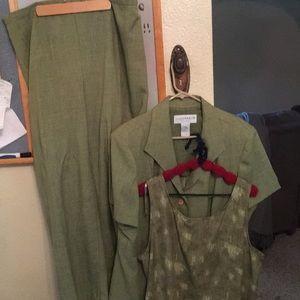 💎3 piece set 20w  Elastic/Zipper Pants Top Jacket